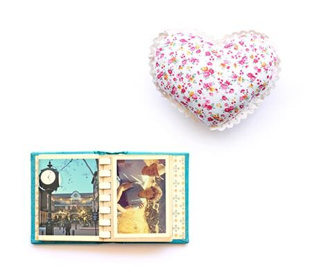 picture frame and balloon heart
